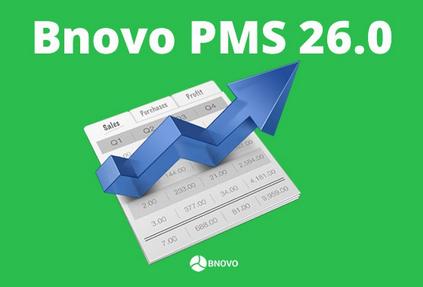 Выпущена новая версия Bnovo PMS 26.0