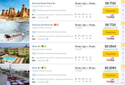 Слетать.ру внедрил на своем сайте обновленную выдачу туров