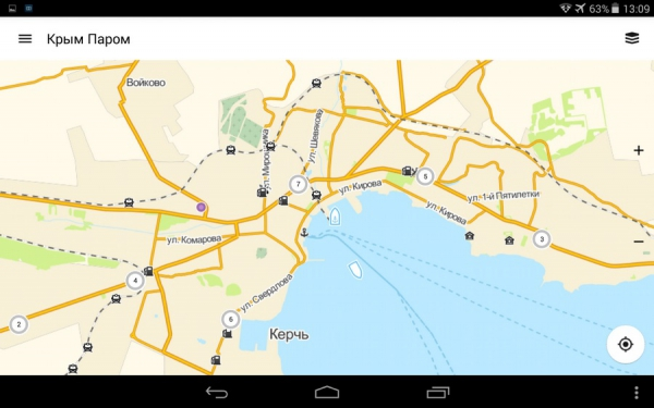 Информация об объектах на карте