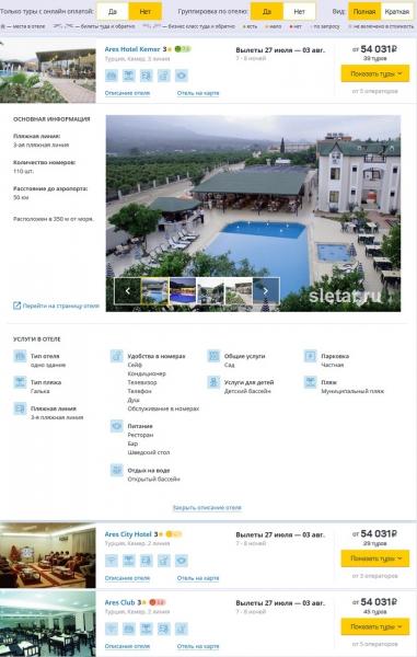 Описание отеля