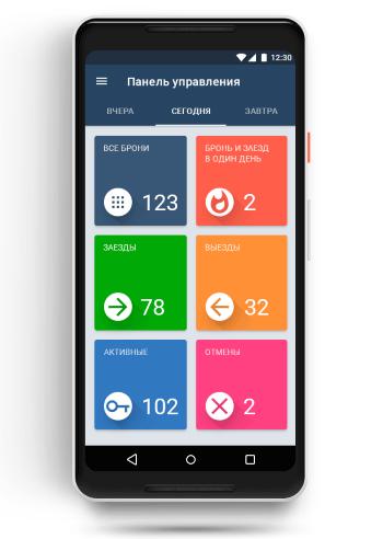Показатели отеля в Панели управления TL Extranet для Android