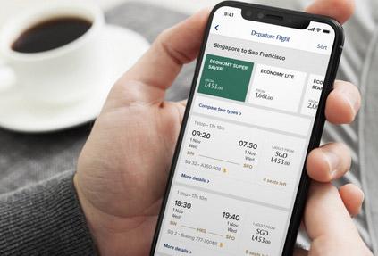 «Сингапурские Авиалинии» запускают мобильное приложение с инновационными функциями
