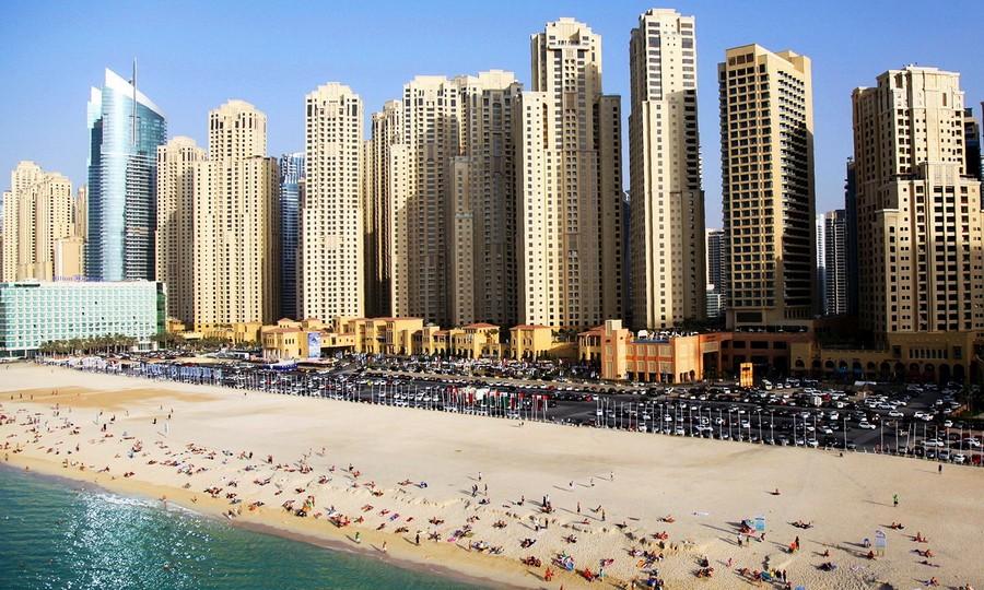 jumeirah beach residence пляж